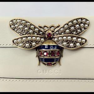 Gucci Queen Margaret wallet in Cream White